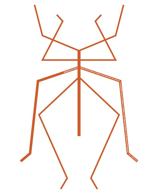 Insignificant Insect. England 1998 by Hamish Fulton contemporary artwork