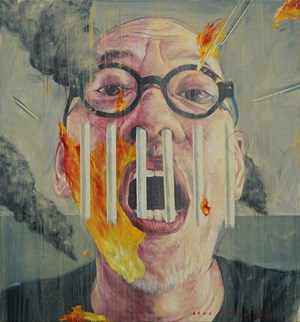 Self Pollute by Agus Suwage contemporary artwork
