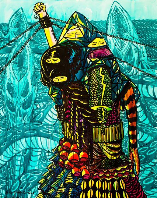 Keep Strong by Eko Nugroho contemporary artwork