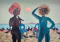They came to see God by Ndidi Emefiele contemporary artwork painting, mixed media
