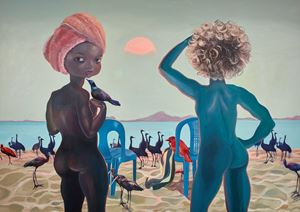 They came to see God by Ndidi Emefiele contemporary artwork