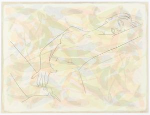 NAUGHTY, LONELY AND HAPPY by Reza Farkhondeh & Ghada Amer contemporary artwork