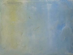 Sitting with a sky 1 by Chafa Ghaddar contemporary artwork painting