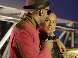 Alicia Keys x JR opening Perrotin New York