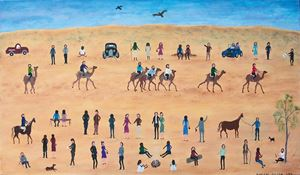 The Outback Racing by Marlene Gilson contemporary artwork painting