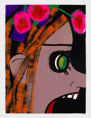Vanity Fair by Ellen Berkenblit contemporary artwork drawing