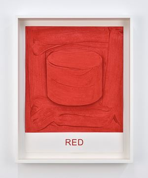 Eight Colorful Inside Jobs: Red by John Baldessari contemporary artwork