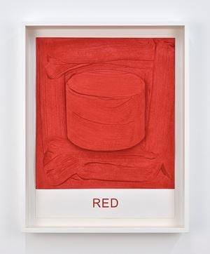 Eight Colorful Inside Jobs: Red by John Baldessari contemporary artwork works on paper, print