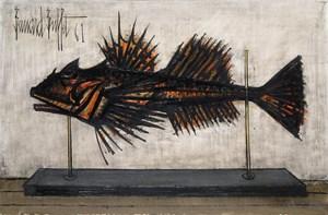 Poisson naturalisé by Bernard Buffet contemporary artwork