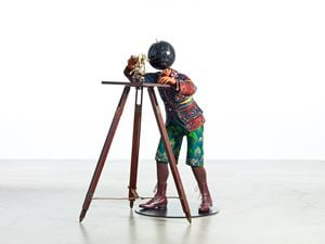 Planets in my Head, Young Geologist by Yinka Shonibare CBE (RA) contemporary artwork sculpture