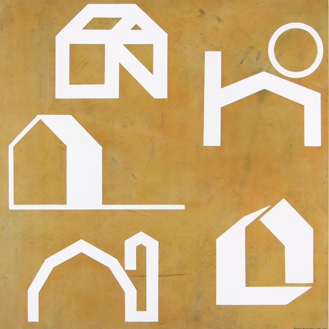 Obsolete House Logos by Peter Atkins contemporary artwork