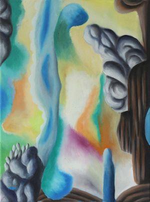 Haptische Eigenschaften (Ursprüngliche Ausblicke) by Hartmut Neumann contemporary artwork