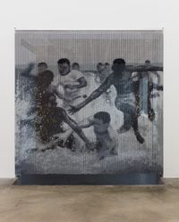 Wading in the Wake by Cosmo Whyte contemporary artwork painting, installation, mixed media