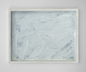 Untitled (white painting #3) by Dan Arps contemporary artwork