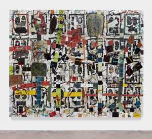 Untitled Broken Crowd by Rashid Johnson contemporary artwork