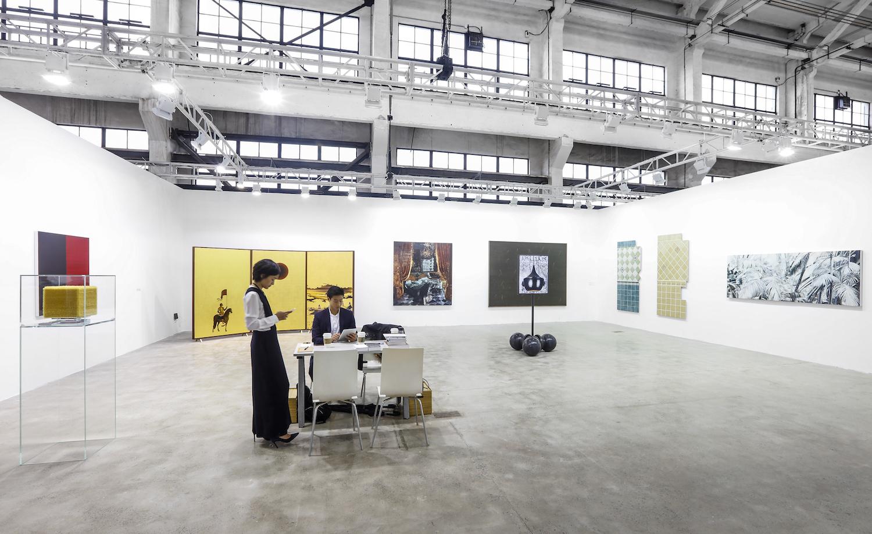 Exhibition view, Edouard Malingue Gallery at The Shanghai West Bund Art & Design Fair, 2016. Image courtesy West Bund.