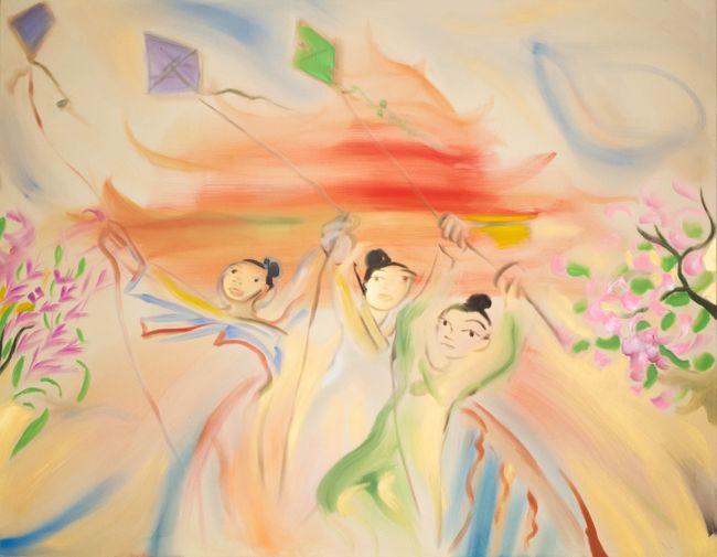 Flying Kites by Sophie von Hellermann contemporary artwork