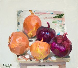 Onions 大洋蔥 by Liu Xiaodong contemporary artwork