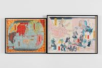 1853-1900, Map of the World, Japan Centered by Sam Durant contemporary artwork works on paper