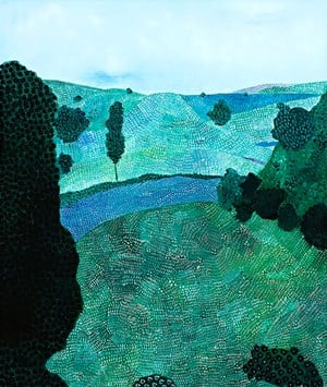 Landscape (river) by Sally Ross contemporary artwork