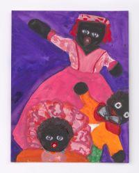 Female Doll with Two Heads Below by Betye Saar contemporary artwork painting