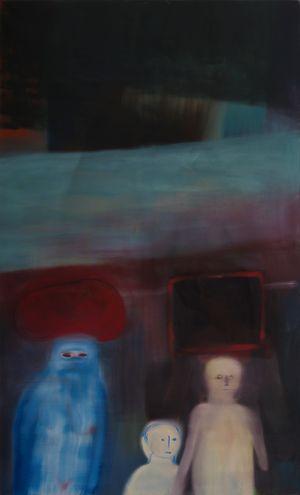fliehen müssen! by Miriam Cahn contemporary artwork painting