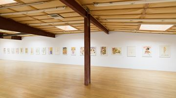 """Contemporary art exhibition, Robert Colescott, Two Drawing Sweets:  """"Robert's Complete History of World Art"""" (1979) and """"The Girls of the Golden West"""" (1980) at Blum & Poe, Los Angeles"""