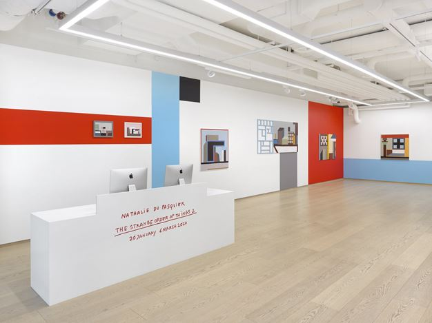 Exibition view: Nathalie Du Pasquier, the strange order of things 2, Pace Gallery, Geneva (20 January–18 March 2020). © Nathalie Du Pasquier. Courtesy Pace Gallery. Photo: Annik Wetter.