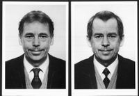 Vaclav Havel (diptych) by Jiří David contemporary artwork photography