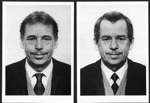 Vaclav Havel (diptych) by Jiří David contemporary artwork