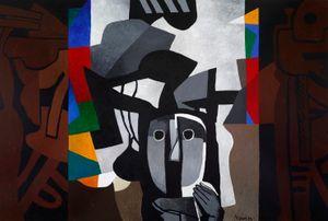 Imaginary Portrait by Dia Al-Azzawi contemporary artwork