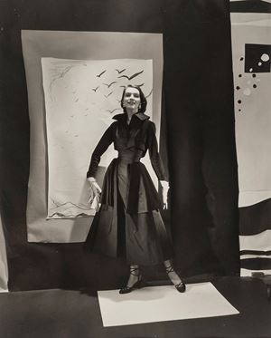Jean Patchett With Cutout Backdrops, For 'Vogue' by Cecil Beaton contemporary artwork