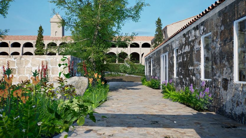ArtLab, Hauser & Wirth Menorca exterior view created in HWVR. Courtesy Hauser & Wirth