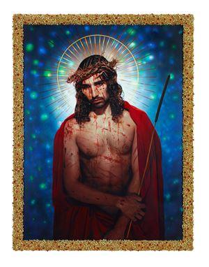 Le Christ aux outrages (Willy Cartier) by Pierre et Gilles contemporary artwork
