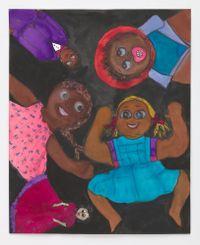 5 Black Dolls by Betye Saar contemporary artwork painting
