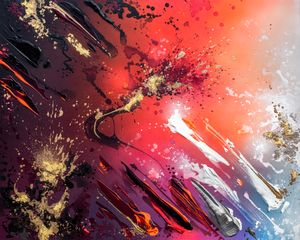 GLOWING EMBERS #1 by Mikael B contemporary artwork