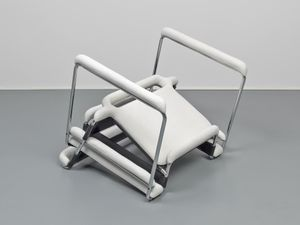 Up side down Breuer chair after a couple of inches of snowfall by Ryan Gander contemporary artwork