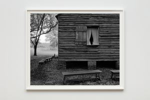 Cabin and Benches by Dawoud Bey contemporary artwork photography