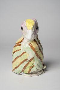 A kookaburra: brown stripe by Pie Rankine contemporary artwork sculpture, ceramics