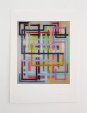 Aime * by Bernard Frize contemporary artwork
