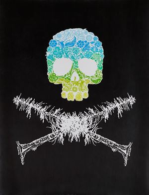 Ecofeminist Skull and Crossbones by Andrea Bowers contemporary artwork