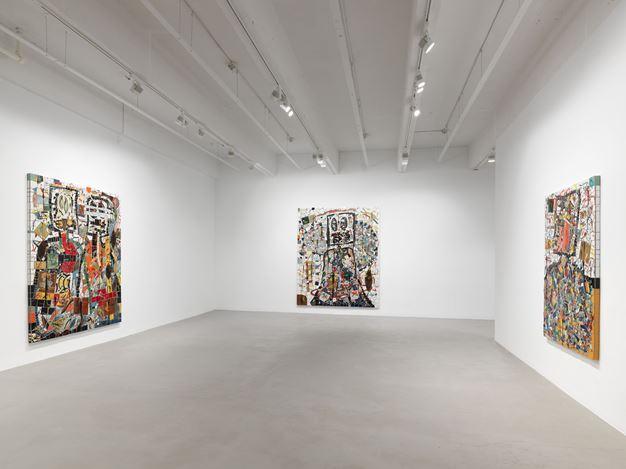 Exhibition view: Rashid Johnson, The Hikers, Hauser & Wirth, 22nd Street, New York (12 November–25 January 2020).© Rashid Johnson. Courtesy the artist and Hauser & Wirth. Photo: Dan Bradica.