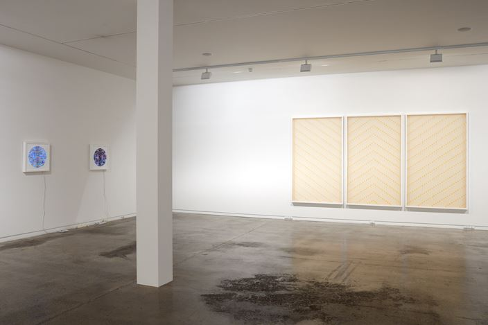 Exhibition view: Peata Larkin, Between Two Pou, Two Rooms (30 November–22 December 2018). Courtesy Two Rooms.