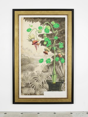 Regency Toleware Clock in the form of a plant by Pablo Bronstein contemporary artwork