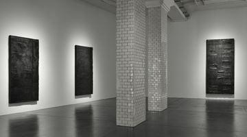 Contemporary art exhibition, Günther Förg, surface of bronze at Hauser & Wirth, Zurich