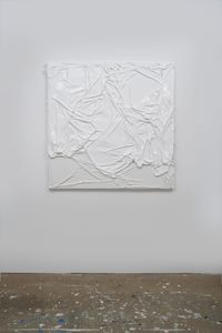 Untitled (White on White #10) by Huseyin Sami contemporary artwork painting