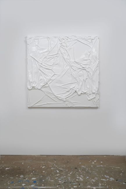 Untitled (White on White #10) by Huseyin Sami contemporary artwork