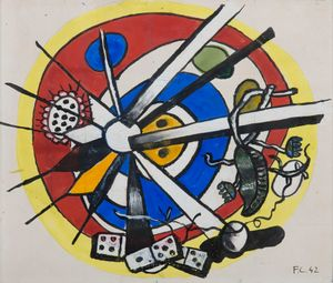 Composition circulaire by Fernand Léger contemporary artwork