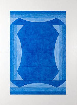 4 Perfect Bracket Bridges Outward in Blue by Inga Svala Thórsdóttir & Wu Shanzhuan contemporary artwork