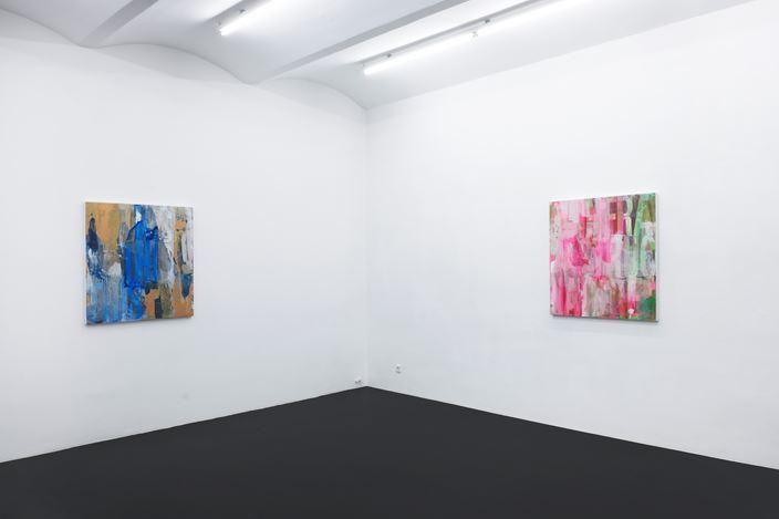 Exhibition view: Heimo Zobernig, MEYER KAINER, Vienna (6 November 2020–24 April 2021).Courtesy MEYER KAINER.